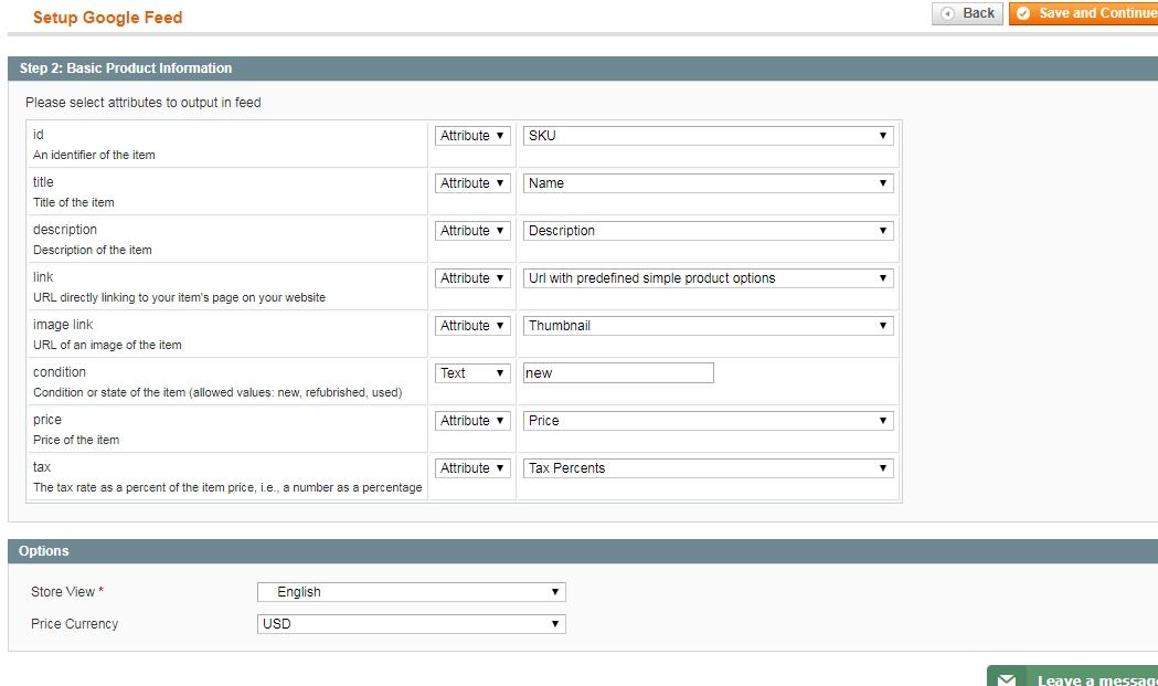 Настройки базовых параметров товара в Magento