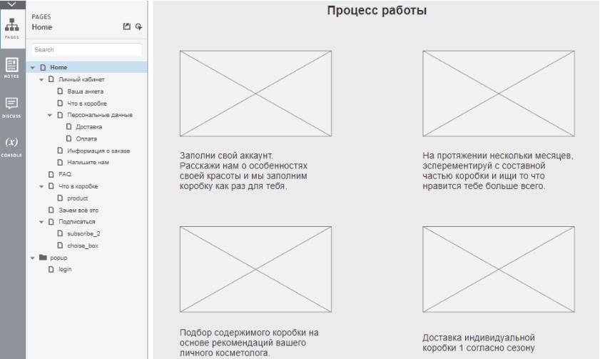 интерактивный прототип сайта