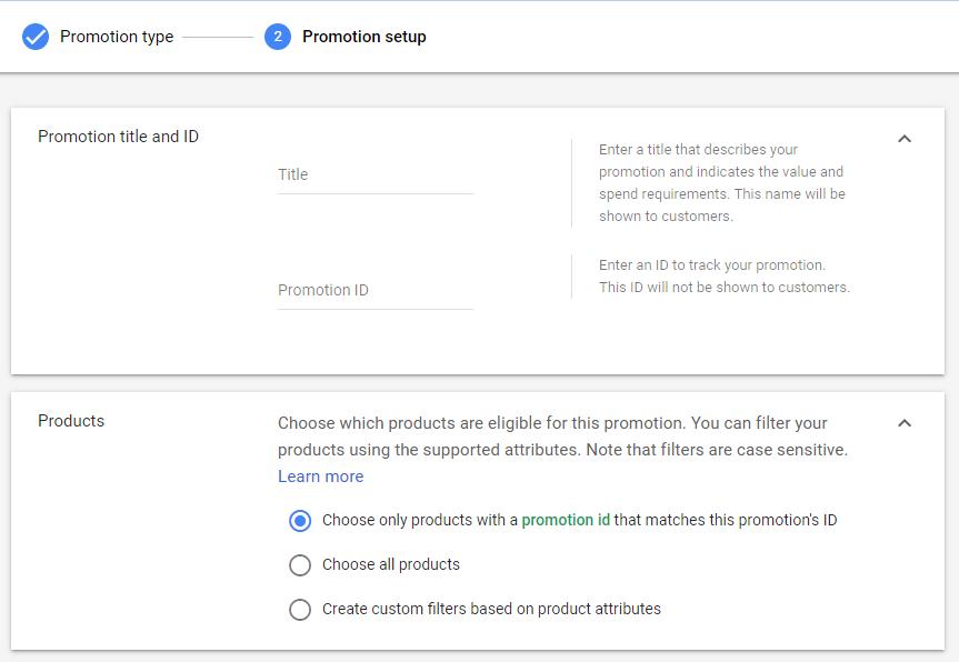Как настраиваются промоакции для Гугл Шоппинга