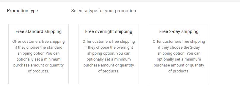 Настройка промоакций для Google Shopping