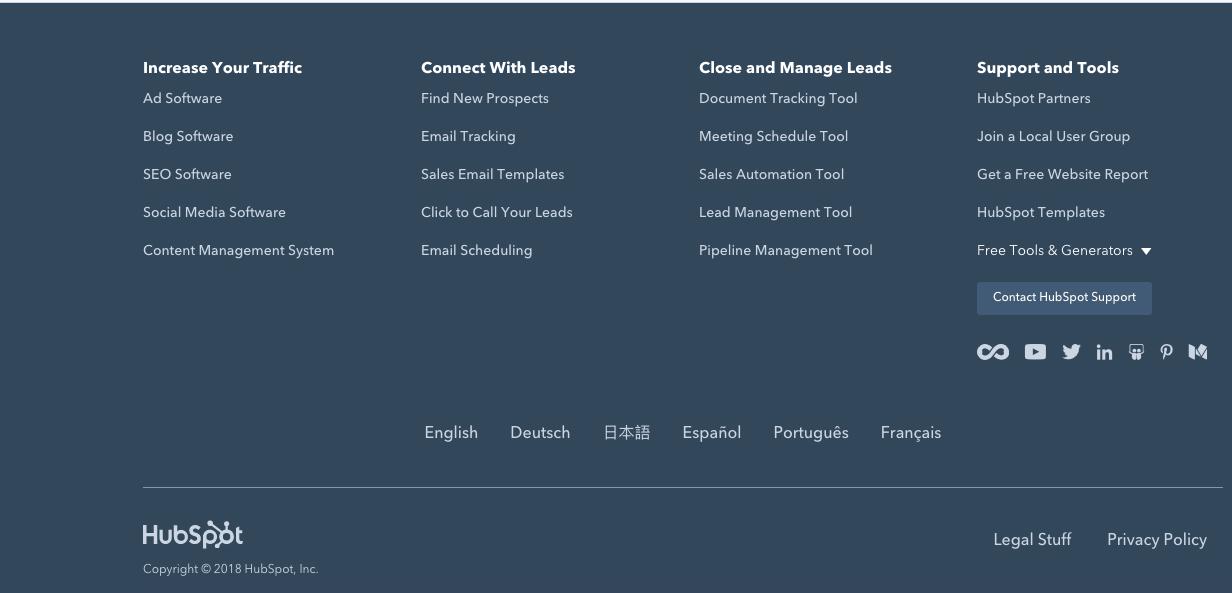 Оформление футера сайта