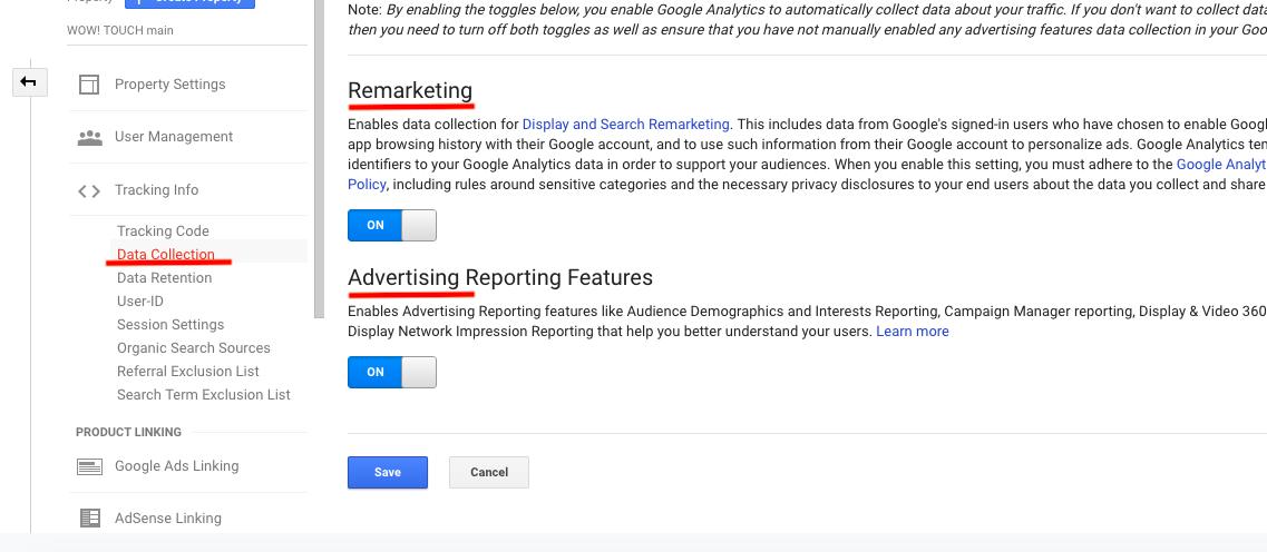ремаркетинг отчет Google Analytics