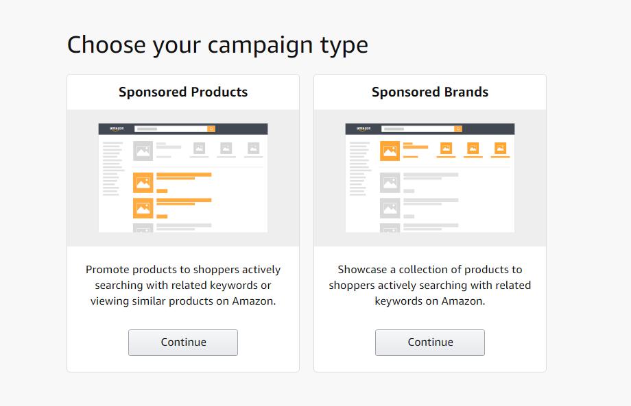 Типы рекламных кампаний Amazon PPC
