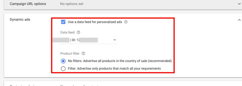 Создание кампании по динамическому ремаркетингу в Google Ads