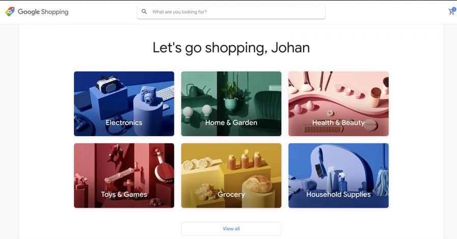 Новый дизайн интерфейса Гугл Покупок 2019