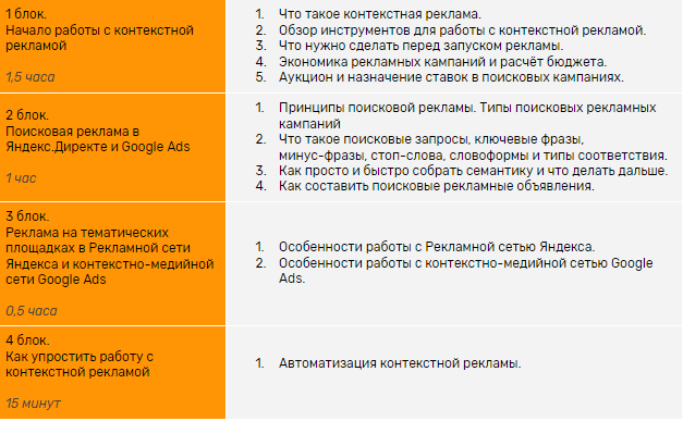 Программа курса от eLama