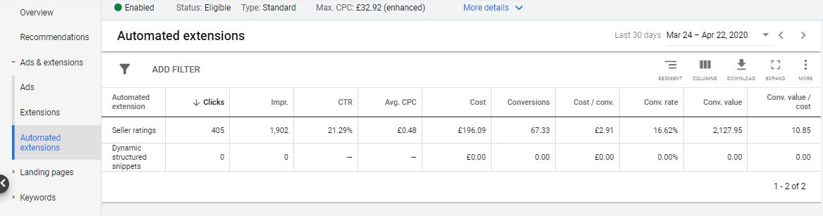 Как узнать, есть ли у меня рейтинг продавца Google