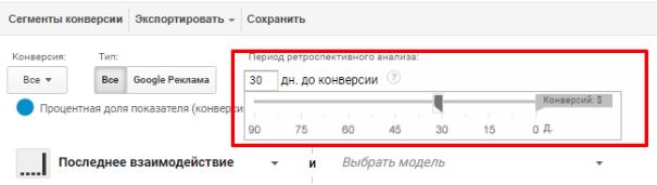 количество дней ретроспективного анализа