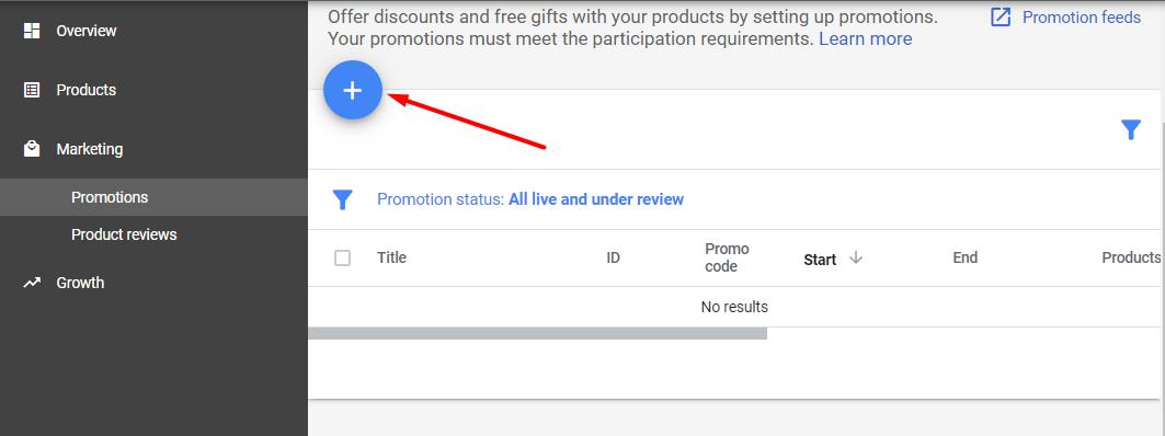 Як налаштувати промоакції для Google Shopping