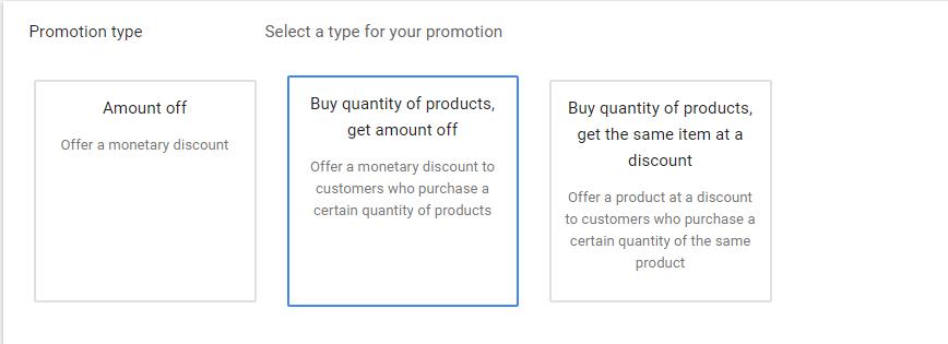 Промоакції в Гугл Шопінг 3