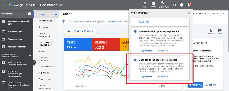 Отчеты и аналитика — новости Google Ads 2020
