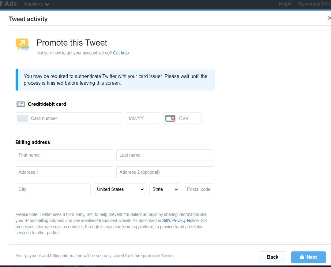 Як просувати твіт