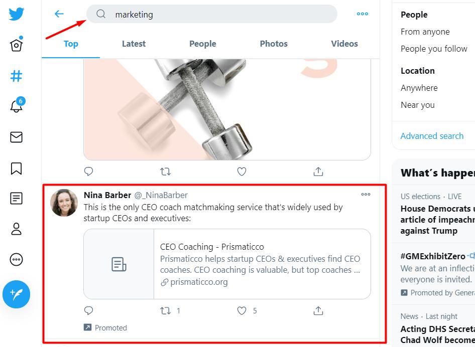 Просування акаунта. Реклама в Твіттері