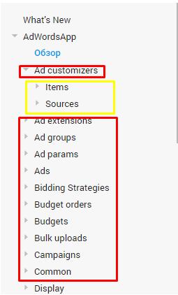 Основні поняття в рамках скриптів Ads