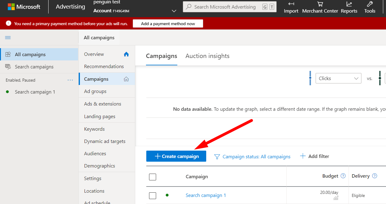 Як створити нову рекламну кампанію в Microsoft Ads покроково