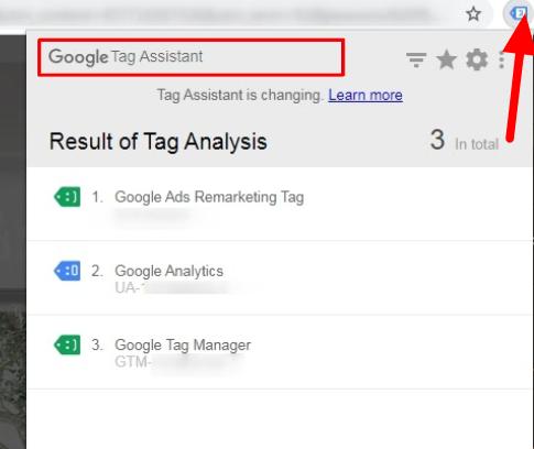 Расширение Tag Assistant