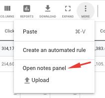 Нотатки (Notes) в Google Ads