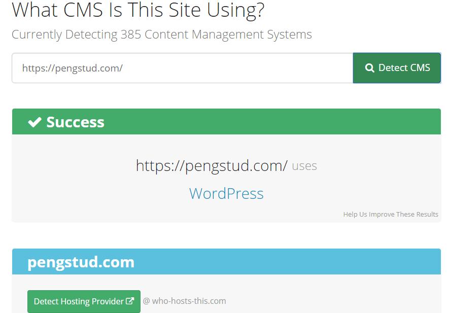 Визначення CMS сайту