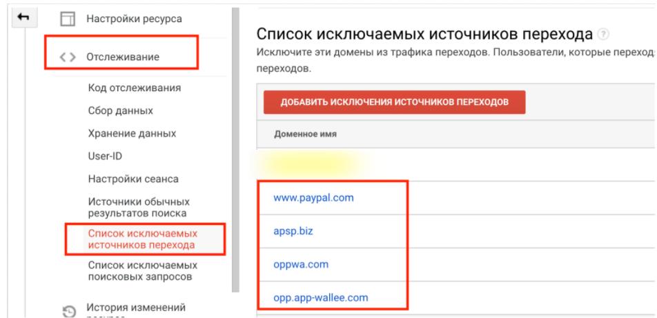 Не виключені системи оплати з джерела трафіку - помилки в Google Ads