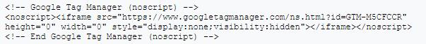 Код GTM