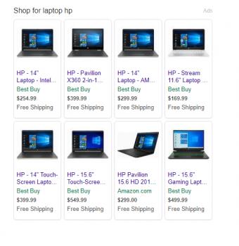Объявления в поисковой выдаче Yahoo