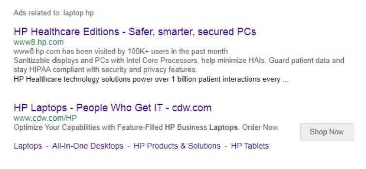 Объявления в поисковой выдаче Yahoo!