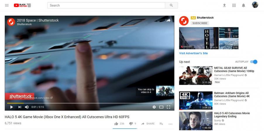 Типы видеобъявлений на Youtube