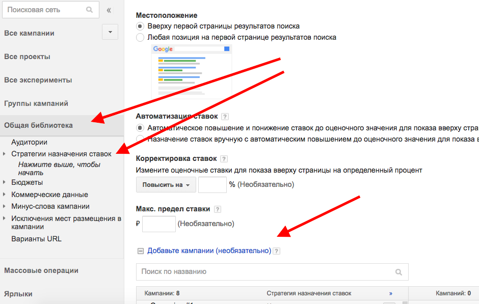 Стратегия Adwords 3